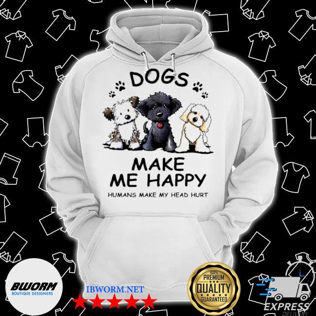 2021 dogs make me happy humans make my head hurt Classic Hoodie