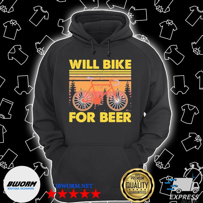 Bicycle will bike for beer Unisex Hoodie