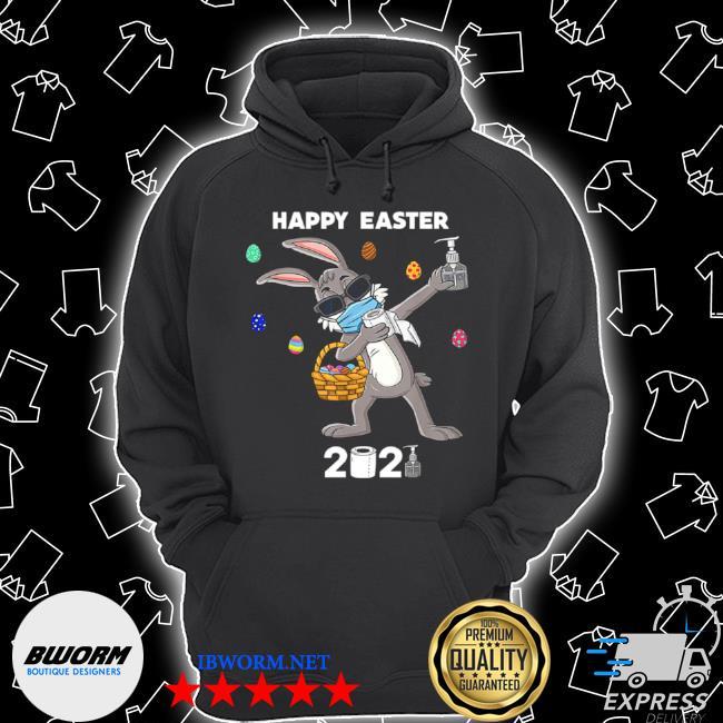 Dabbing rabbit happy easter 2021 Unisex Hoodie