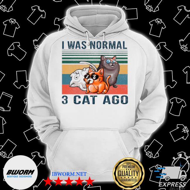 I was normal 3 cats ago vintgae Classic Hoodie