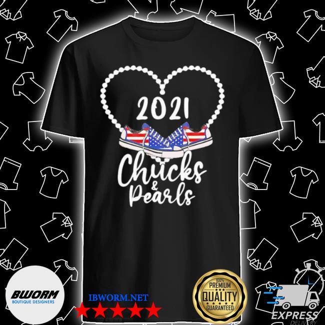 Kamala Harris chucks and pearls 2021 converse American shirt