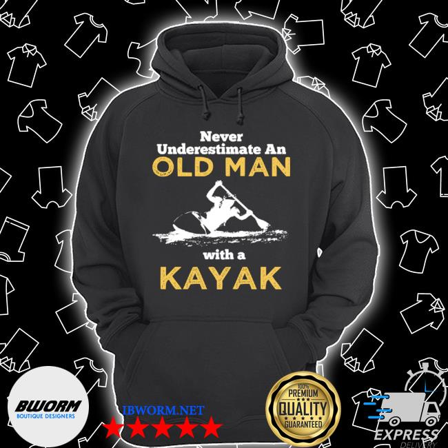 Never underestimate an old man with a kayak Unisex Hoodie