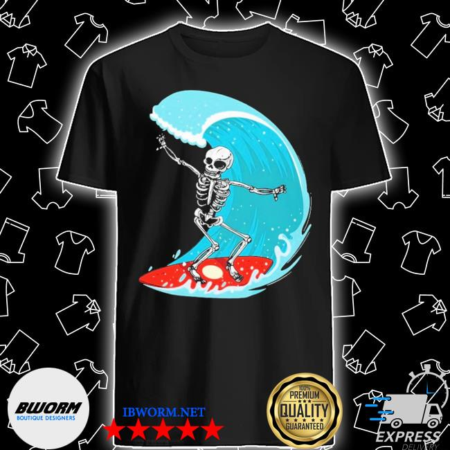Skeleton surf shirt