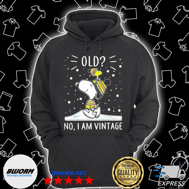 snoopy old no i am vintage Unisex Hoodie