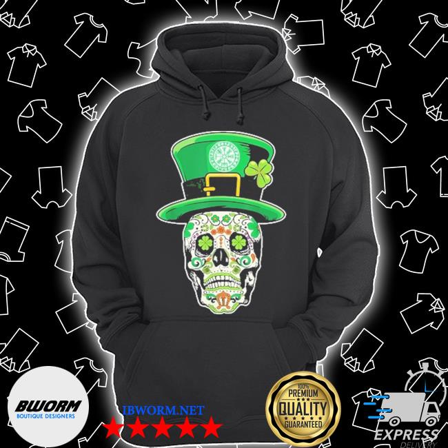 Sugar Skull happy Irish Unisex Hoodie