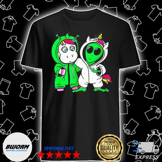 Unicorn vs alien costume halloween shirt