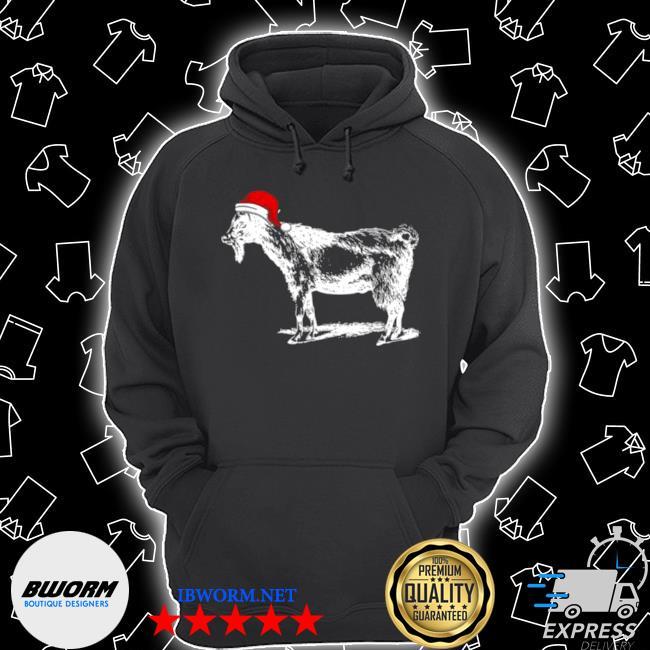 Goat in santa hat christmas pajama Unisex Hoodie