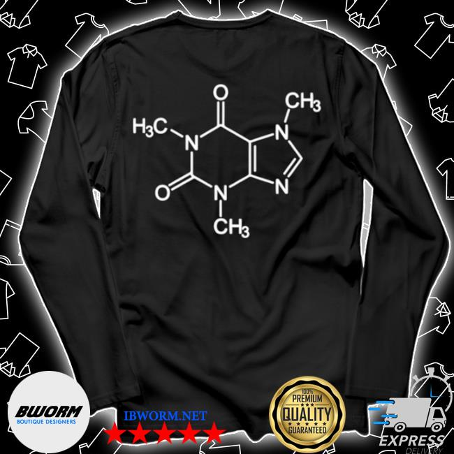 Unisex Long Sleeve Tee Caffeine Molecule