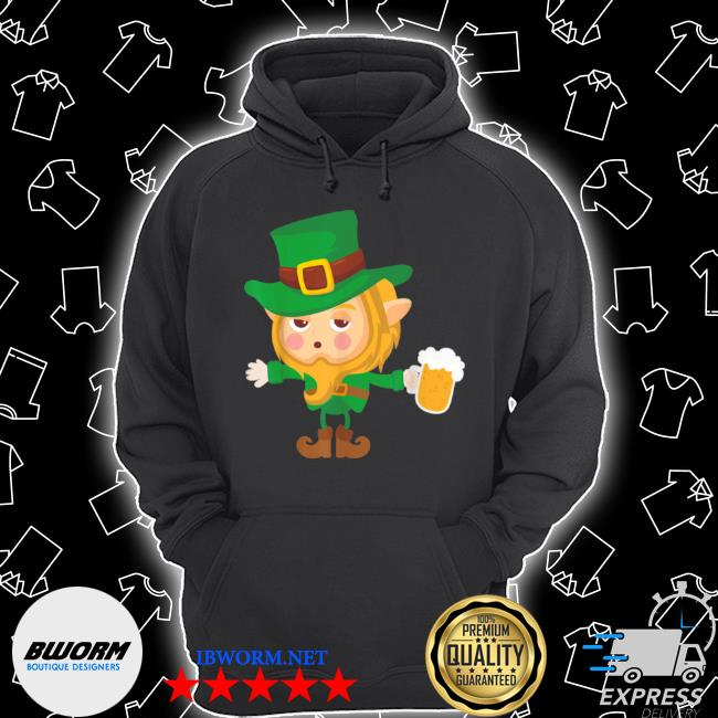 Cute drunk elf on cool st. patrick's day for Unisex Hoodie
