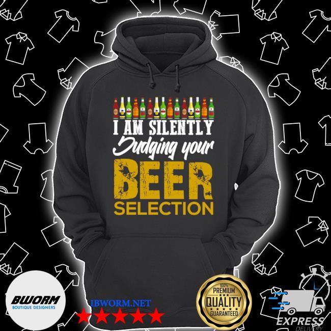 Funny craft beer drinking silently judging beer snob Unisex Hoodie