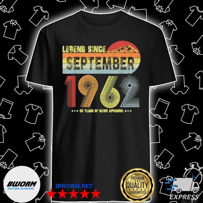Legend since september 1962 vintage 59 yrs old shirt