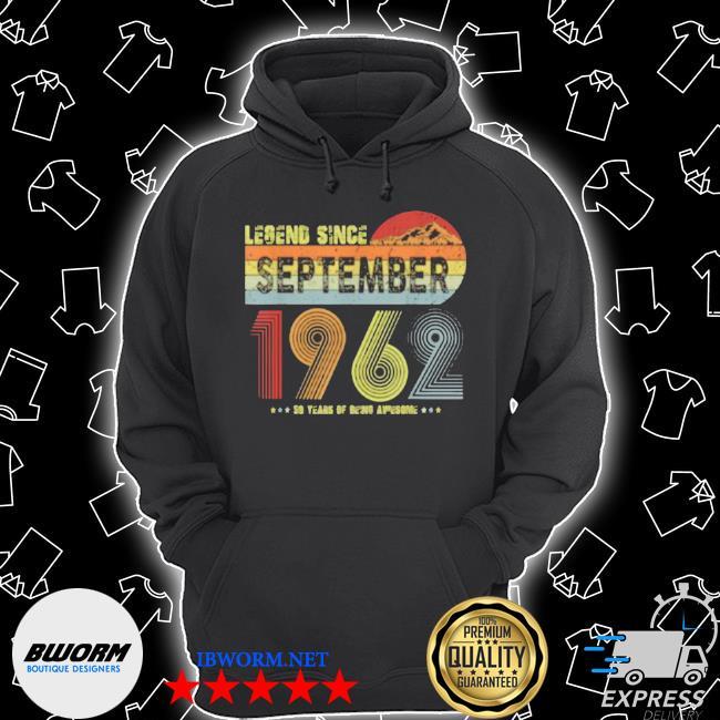 Legend since september 1962 vintage 59 yrs old Unisex Hoodie