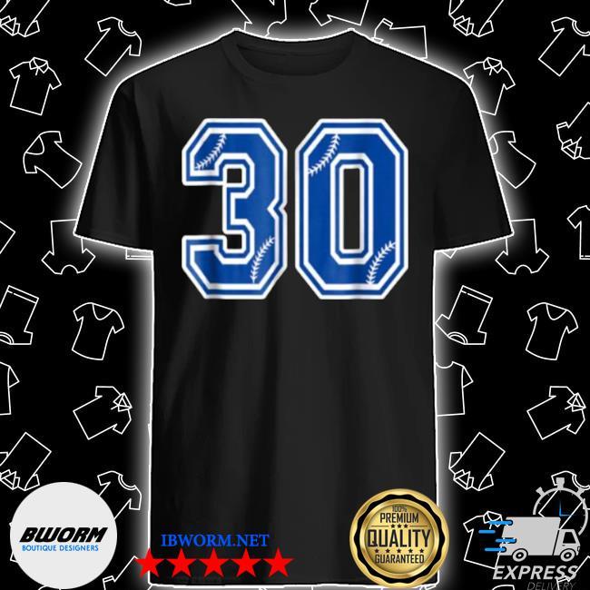 Number 30 baseball shirt
