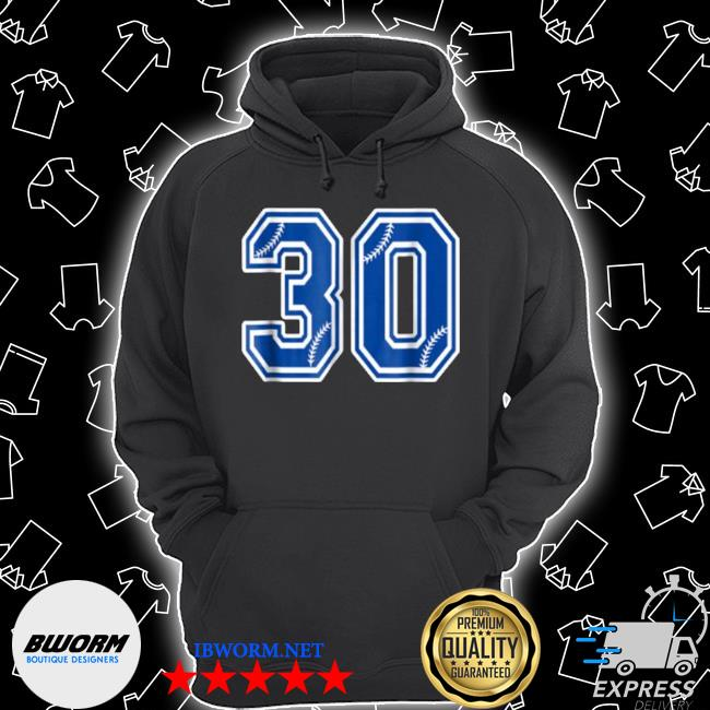 Number 30 baseball Unisex Hoodie