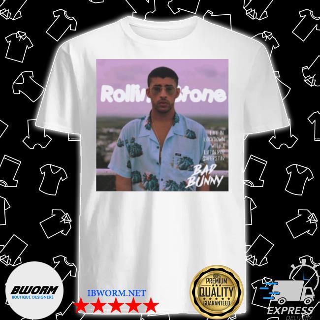 Rolling stone bad bunny shirt
