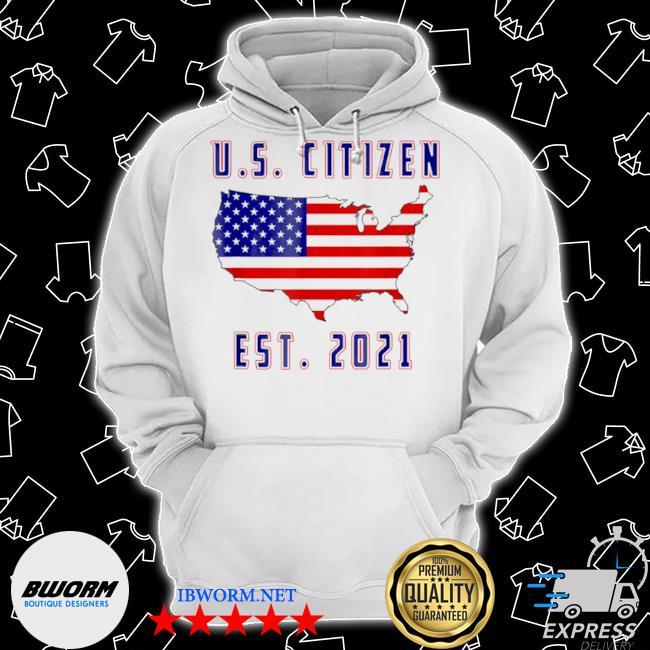 Us citizen americaunited states est 2021 usa flag Classic Hoodie
