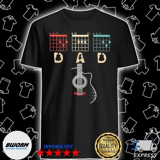 Dad play guitar shirt