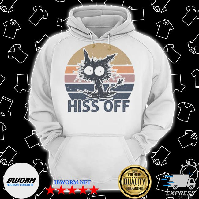Hiss off cat vintage Classic Hoodie
