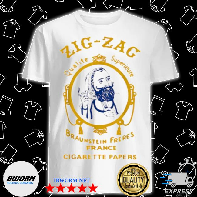 Zigzag braumsteim freres france cigarette papers smoking weed cigarettes shirt