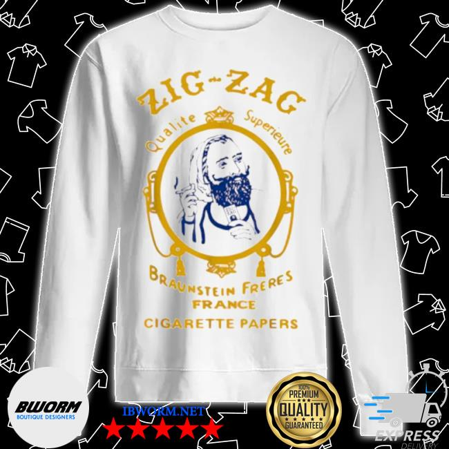Zigzag braumsteim freres france cigarette papers smoking weed cigarettes Unisex Sweater