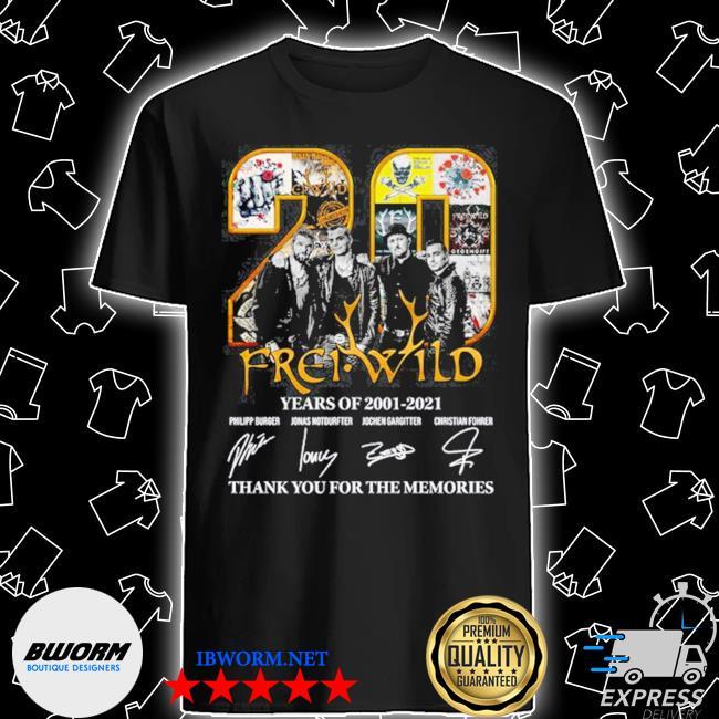 Frei wild 20 frei wild years of 2001 2021 thank you for the memories shirt