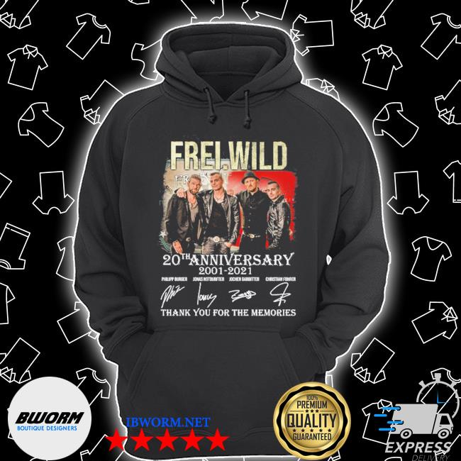 Frei wild 20 th anniversary 2001 2021 thank you for the memories s Unisex Hoodie