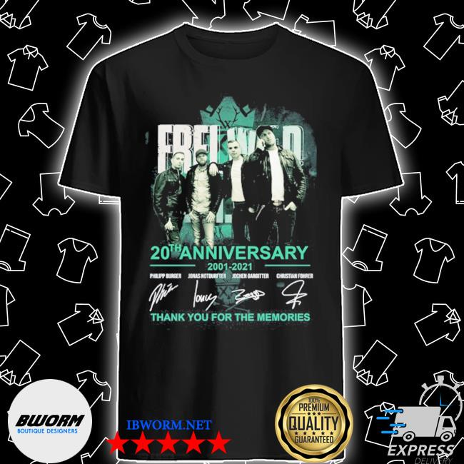 Frei wild 20th anniversary 2001 2021 thank you for the memories shirt