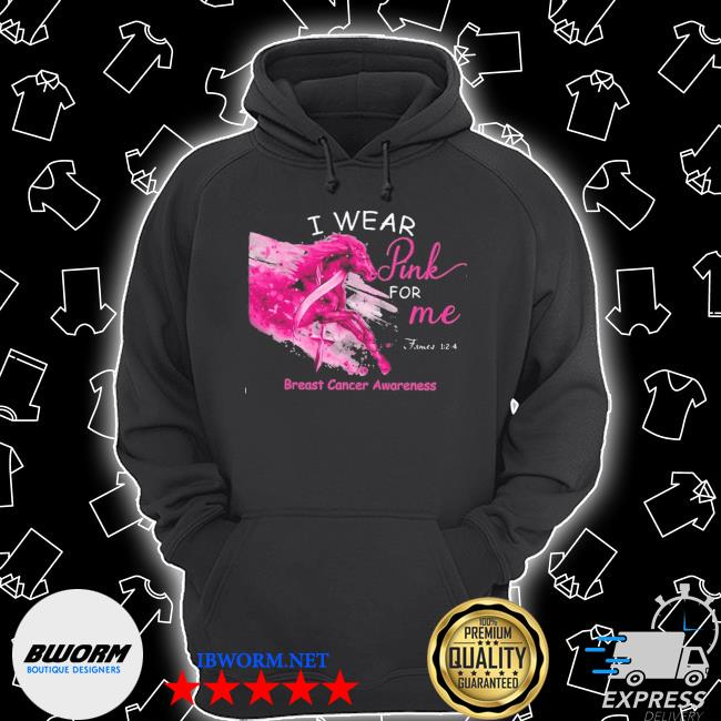 Horse I wear pink for me breast cancer awareness s Unisex Hoodie