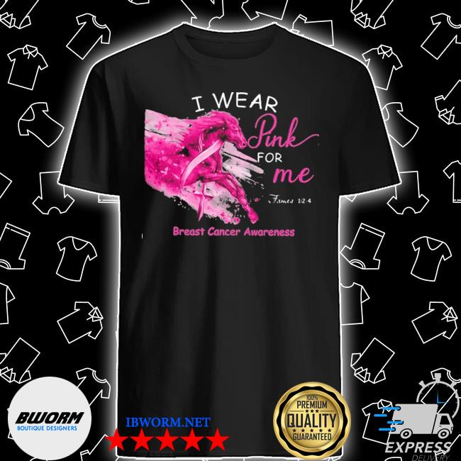 Horse I wear pink for me breast cancer awareness shirt