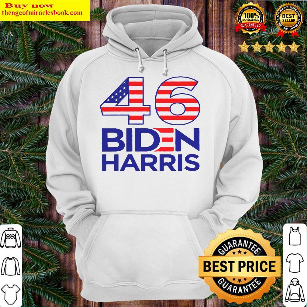 46 American Flag Joe Biden Kamala Harris Hoodie