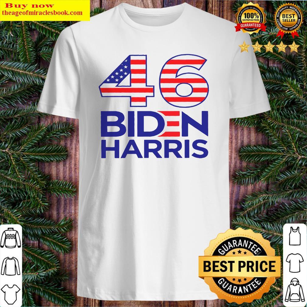46 American Flag Joe Biden Kamala Harris Shirt