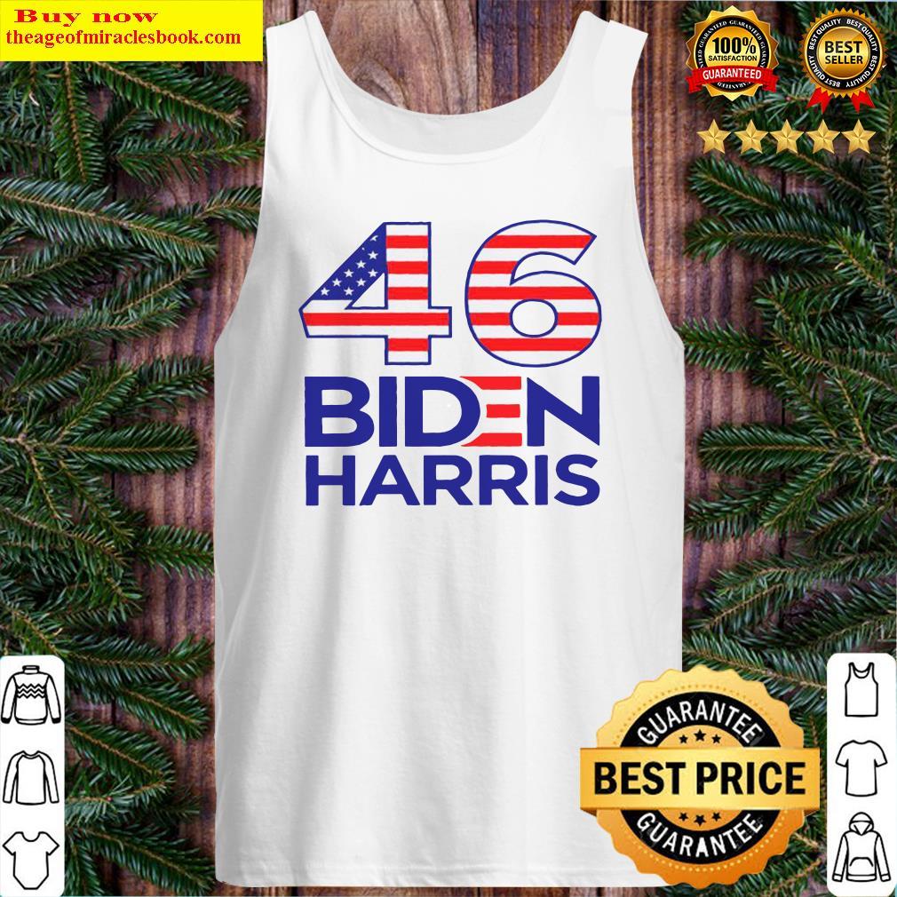 46 American Flag Joe Biden Kamala Harris Tank Top