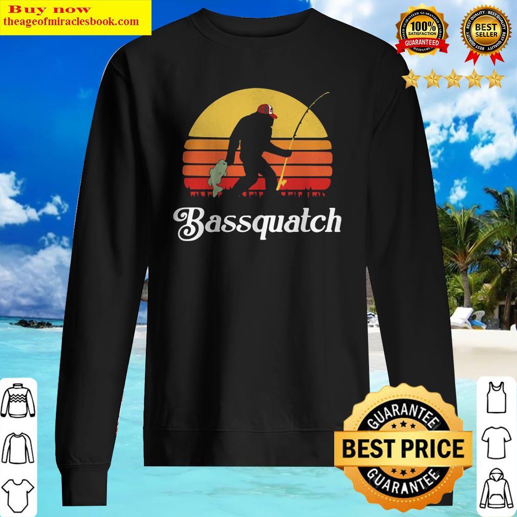 Bigfoot Fishing Bassquatch Sunset Sweater