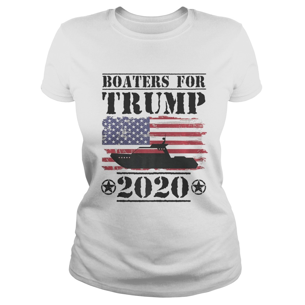 Boaters For Trump 2020 Vintage American Flag Election Slogan  Classic Ladies