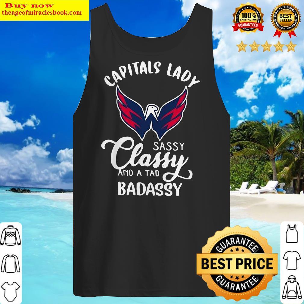 Capitals Lady Sassy Classy And A Tad Badassy Tank Top