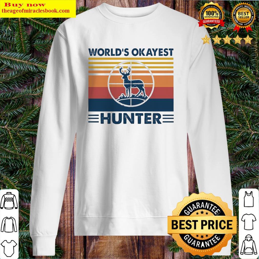 Hunting world's okayest hunter vintage Sweater