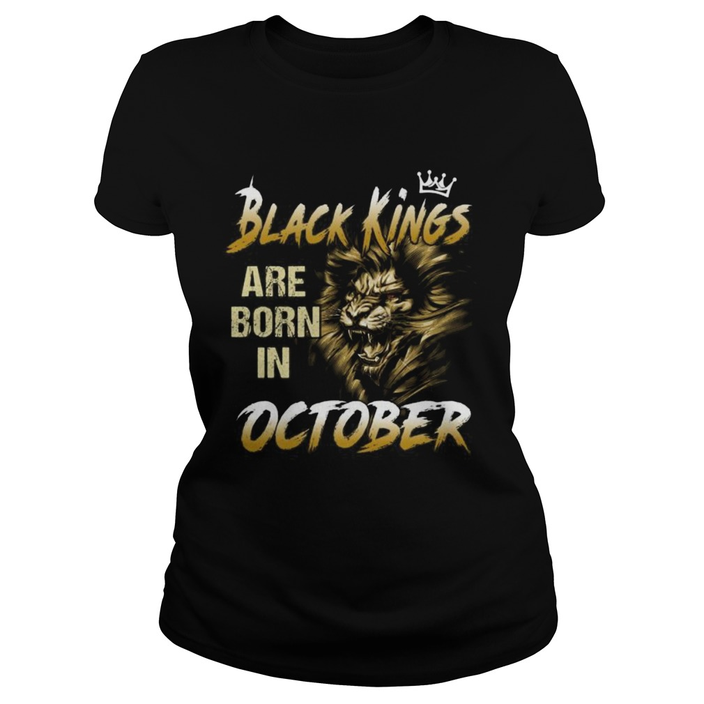 Lion black kings are born in october Classic Ladies
