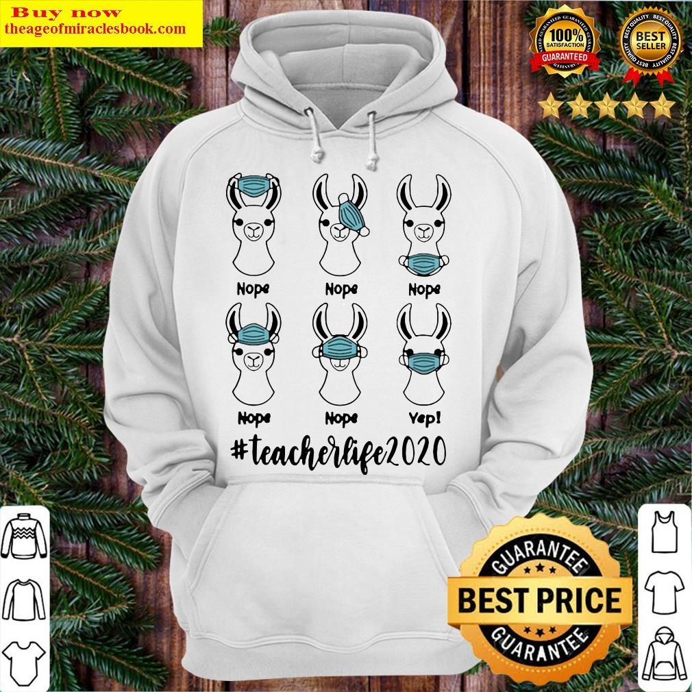 Llama mask nope #teacherlife 2020 Hoodie