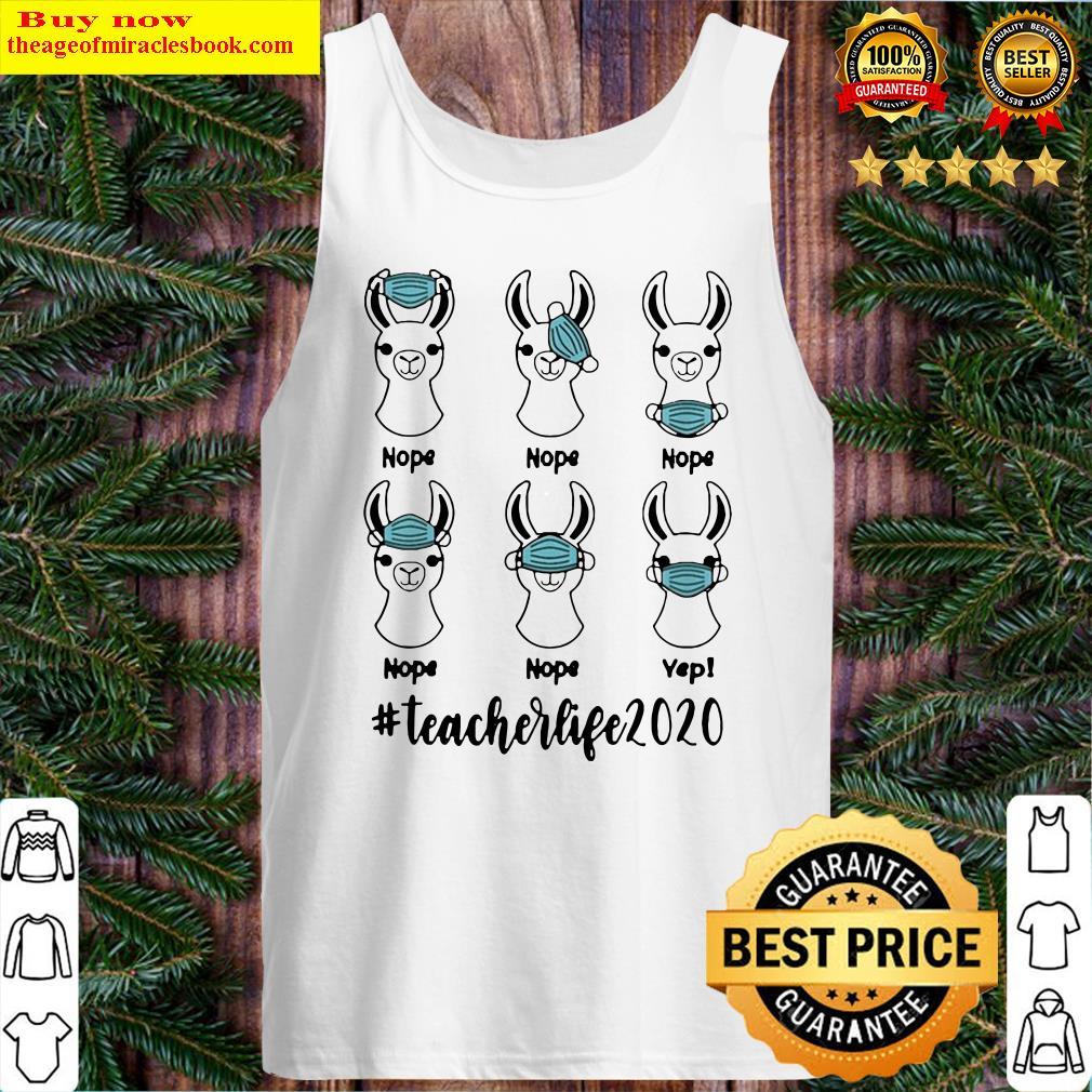 Llama mask nope #teacherlife 2020 Tank Top