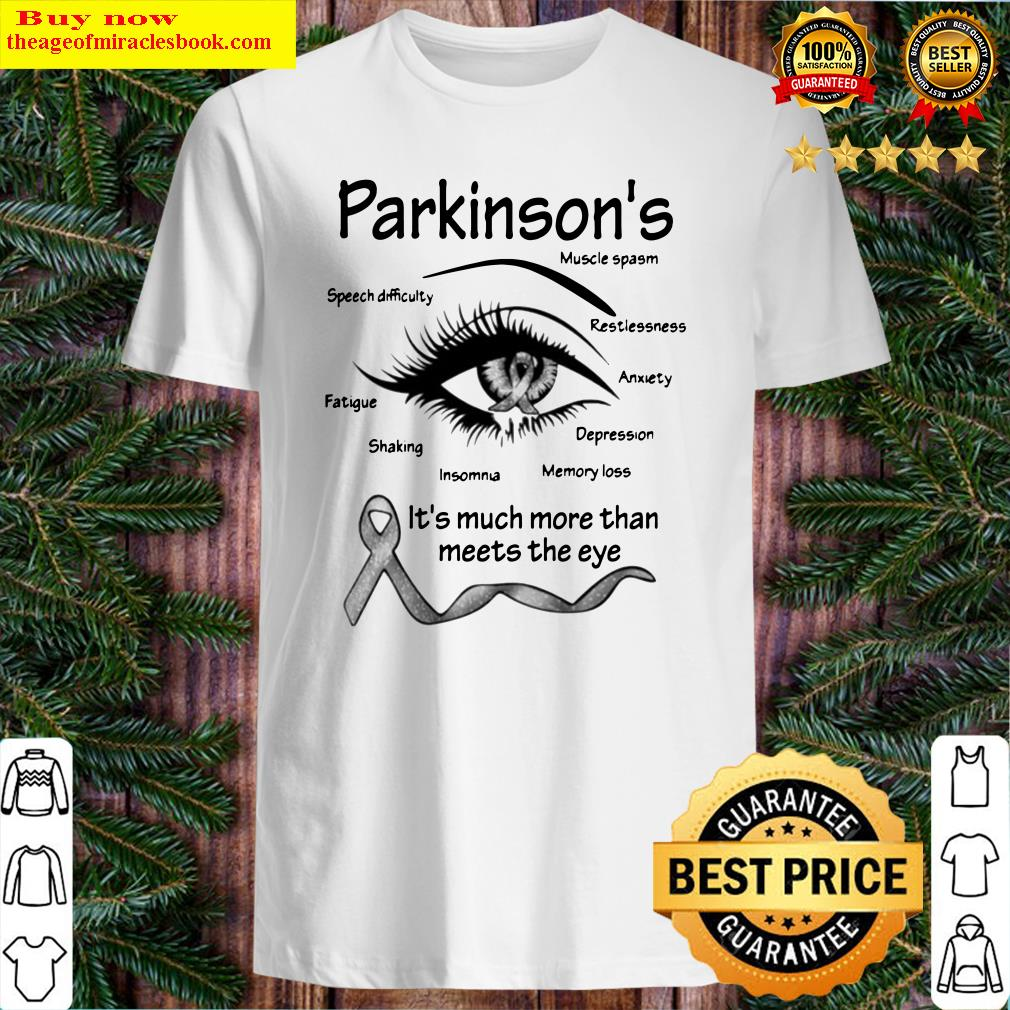 Parkinson's muscle spasm speech difficulty restlessness fatigue Shirt