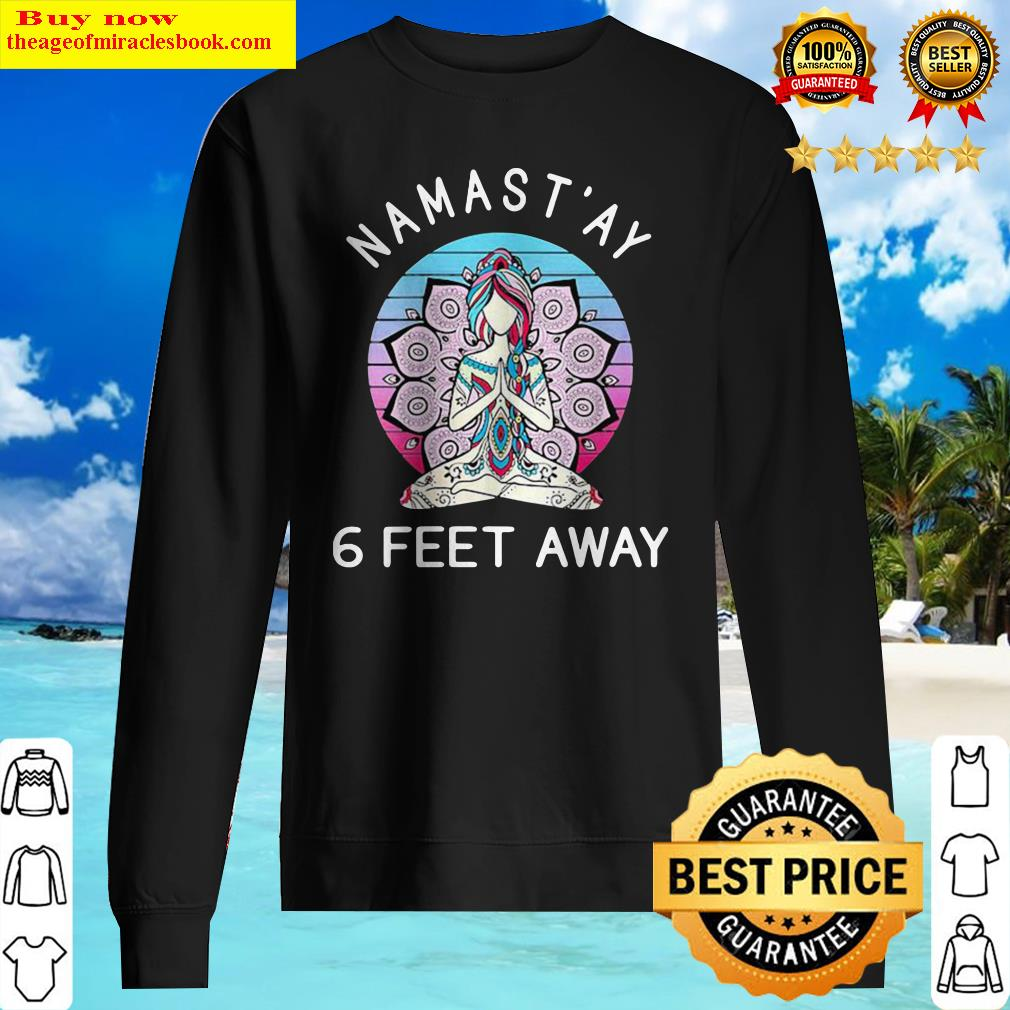 Yoga Namastay 6 Feet Away Vintage Sweater