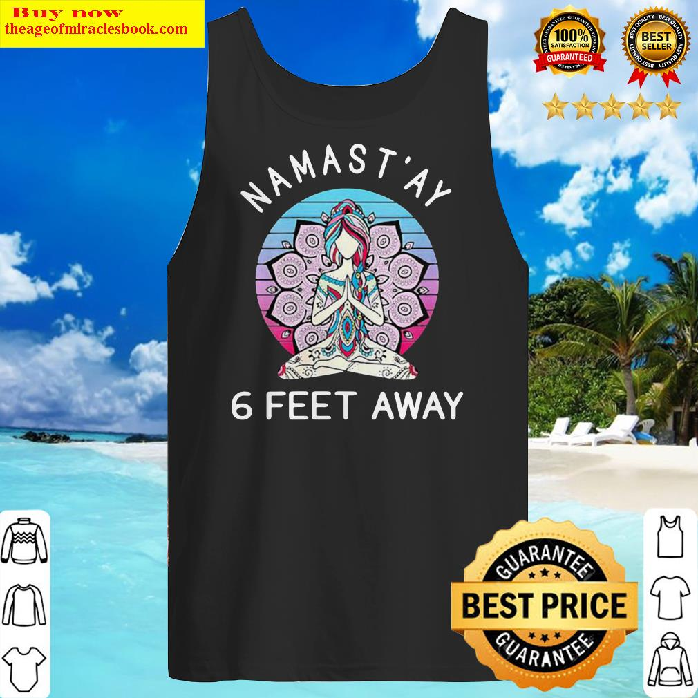 Yoga Namastay 6 Feet Away Vintage Tank Top
