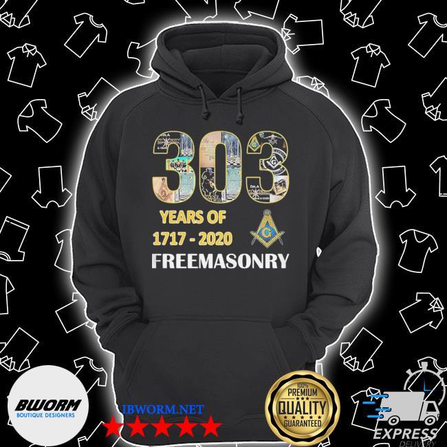 303 Years Of Freemasonry 1717 2020 s Unisex Hoodie