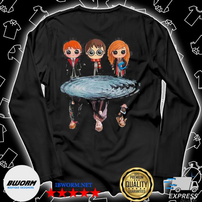 Harry potter ron weasley and hermione reflection water s Unisex Long Sleeve Tee