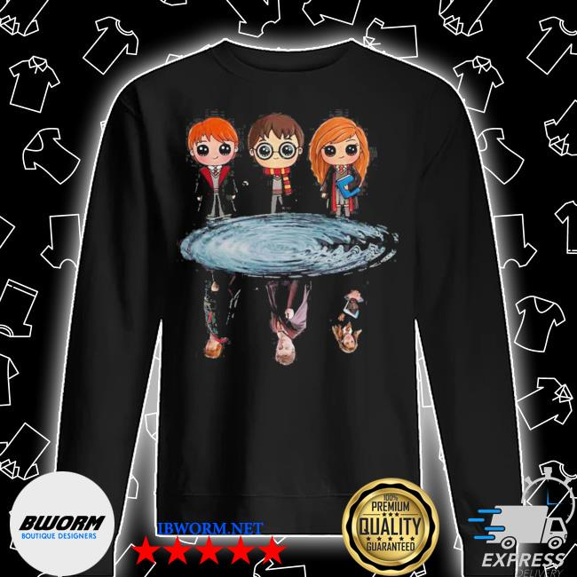 Harry potter ron weasley and hermione reflection water s Unisex Sweatshirt