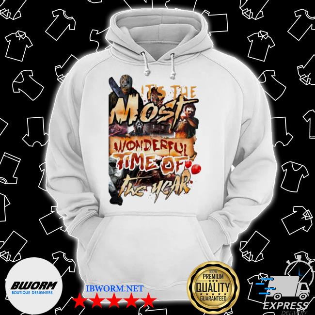 Horror characters halloween it's the most wonderful time of the year blood s Classic Hoodie