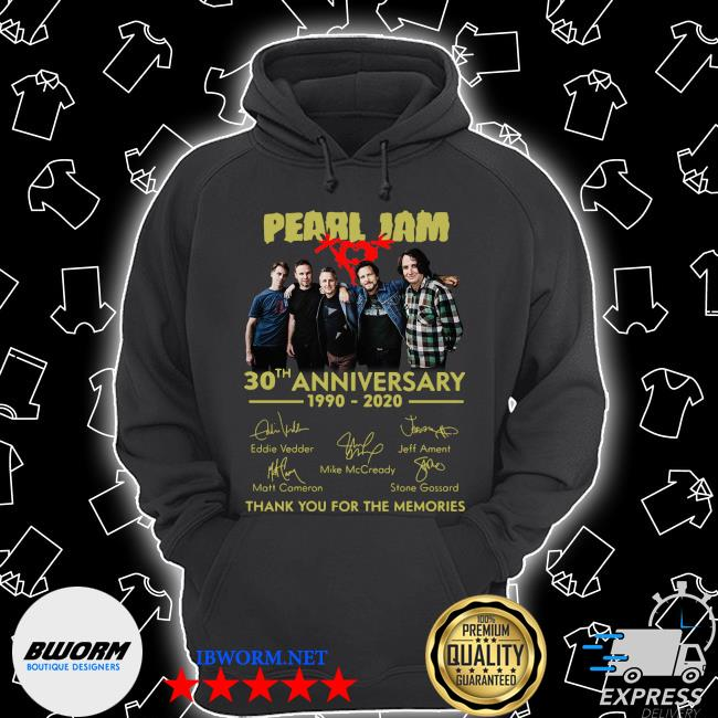 Pearl jam logo 30th anniversary 1990 2020 signature eddie vedder s Unisex Hoodie