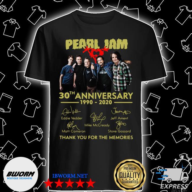 Pearl jam logo 30th anniversary 1990 2020 signature eddie vedder shirt