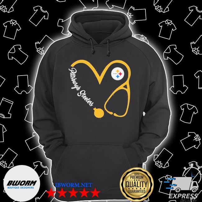 Pittsburgh steelers football stethoscope heart s Unisex Hoodie