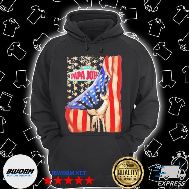 Pizza papa john american flag independence s Unisex Hoodie